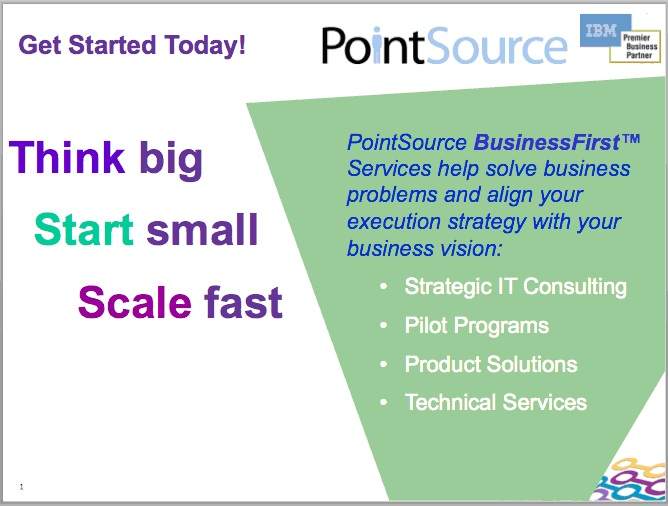 Think big, Start small, Scale fast | PointSource
